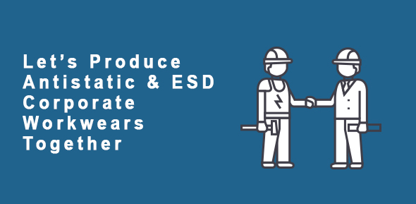 lets produce antistatic esd corporate workwears together